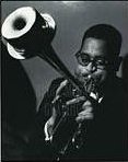 Dizzy Gillespie and his customized horn